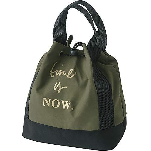 Insulated Lunch Bag Cordón de la caja de almuerzo Bolsa de tela de poliéster espesado bolsa de asas fresca del algodón de seda de almuerz Lunch Box Cooler ( Color : Green , Size : 21x12x23cm )