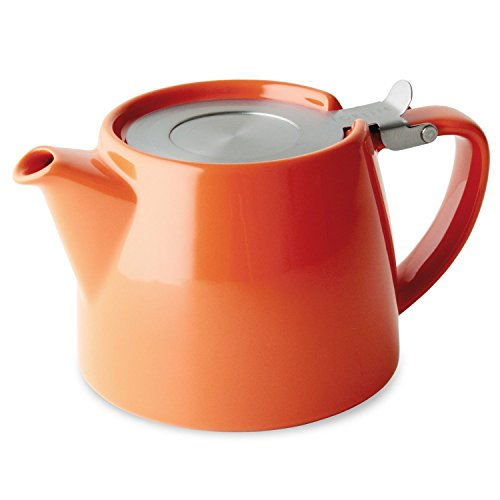 ForLife Stump - Teekessel mit Deckel & 0,3mm feinem Tee-Ei 550ml Karrote - 309CAR