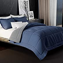 Twin 2-Piece Lightweight Reversible Comforter Set , 1800 Thread Count, All Season Down Alternative | Duvet Insert | 1 Reve...
