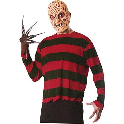 Rubies - Disfraz de Freddy Krueger para adulto, camisa, máscara y guante (317059)