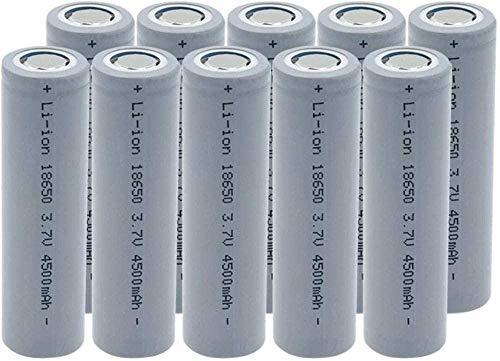 18650 3.7v 4500mAh Batería de Litio de Litio Batería Recargable de la batería para la antorcha de Linterna 10pcs