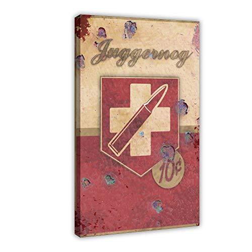 Vintage Poster Juggernog Perk Leinwand Poster Schlafzimmer Dekor Sport Landschaft Büro Zimmer Dekor Geschenk 50 × 75 cm Rahmen style1