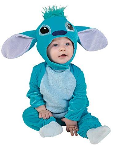 chiber Disfraces Costume da Monstro Blu per Bambini (Taglia 0 (6-12 Mesi))