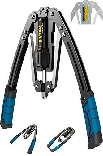 HOMEGYM 大胸筋トレーニング器具 筋トレ 2020年最新版 油圧式 アームバー エキスパンダー グリップ 上腕二...