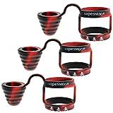 DrafTor 3 Stück Vape Band mit Kappe für Verdampfer aus Silikon Anti Slip Mundstück für TFV8,TFV8 BABY,TFV8 Big baby, TFV12, Fetten Zerstäuber(Mehrfarbig2)