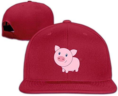 angwenkuanku 31502 Baseballmütze, süßes Cartoon-Schweinchen, verstellbar, einfarbig, Unisex