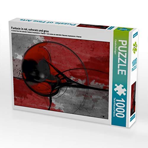 CALVENDO Puzzle Fantasie in rot, schwarz und grau 1000 Teile Lege-Größe 48 x 64 cm Foto-Puzzle Bild von Digital-Art