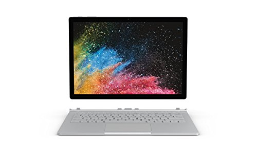 "Microsoft Surface Book 2 Notebook Convertibile da 15"", i7-8650U, 4,5 GHz, 16 GB, SDD 512 GB, NVIDIA GeForce GTX 1060, 6 GB GDDR5, Platino [Layout Italiano]"