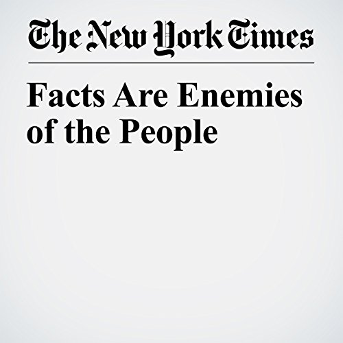 Facts Are Enemies of the People copertina