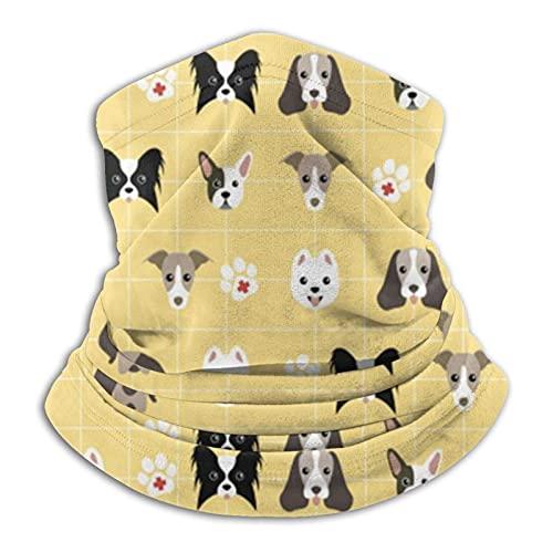 Yaxinduobao Mujeres 'S Emergencia Perro Mascota Botiquín de primeros auxilios Calentador de cuello Microfibra suave Cuello polaina Pasamontañas de invierno Esquí Hombres Traje Novedad Bandana