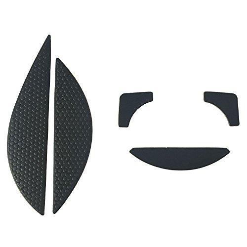 HUIYUN New The Mouse Side Stickers Mice Antiskid & Feet Skates Teflon Replacement for Razer DeathAdder 2013 RZ01-0084 Chroma Multi-Color Ergonomic RZ01-0121 Gaming Mouse