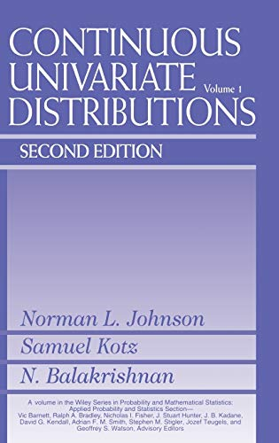 Continuous Univariate Distributions: Volume 1 (Continuous Univariate Distributions (1), Band 1)