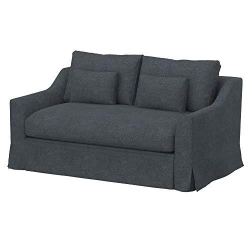 Soferia Funda de Repuesto para IKEA FARLOV sofá Cama de 2 plazas, Tela Strong Dark Grey, Gris