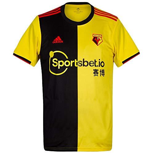 adidas 2019-2020 Watford Home Football Soccer T-Shirt Trikot