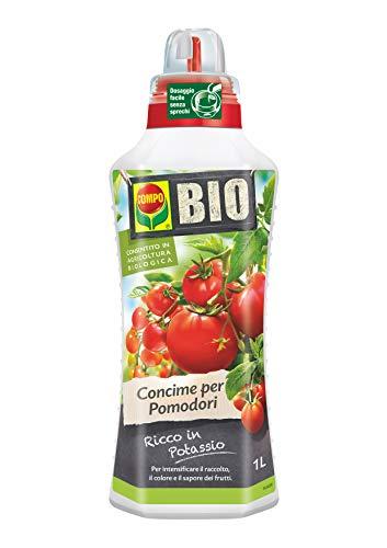 COMPO BIO Fertilizante líquido para tomates, rico en potasio, permitido en la agricultura orgánica, 1 l