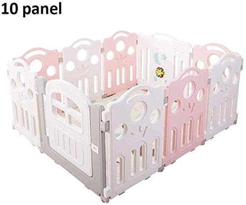 Fence Game Fence Indoor Home Baby Baby Safety Protection Crawling Mat Toddler Fence Safety (Couleur: A, Taille: 10 panneaux-120x150x70cm)