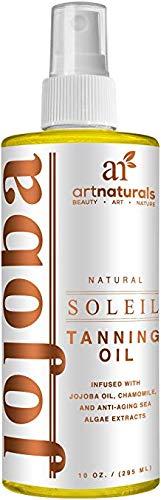 Art Naturals Olio Abbronzante Protezione Corpo 236,5 ml Siero Spray – Benefici Idratanti E Nutrienti – Prodotto in USA 98% Naturale Con Olio di Cocco,