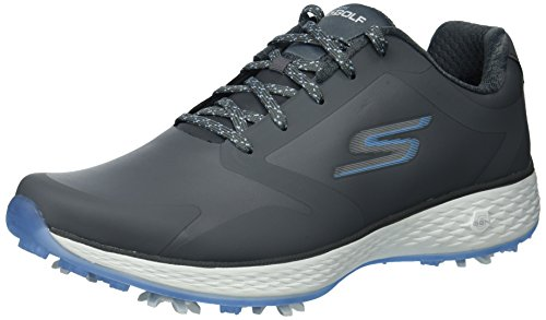 Skechers 2018 GO Golf Eagle PRO Womens Spikes Waterproof Shoes 14869 Grey/Blue 4.5UK