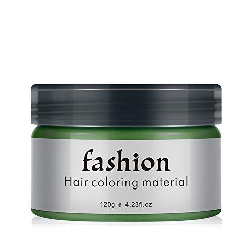 cire à cheveux jetable mud boue coiffante, cheveux lavables jouant au club dames festivals pour hommes et jeu rôle teinture capillaire temporaire professionnelle (vert)