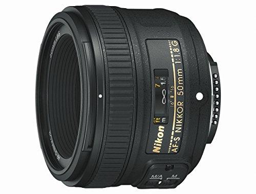 Nikon Nikkor - Objetivo para cámara AF-S 50mm f/1.8G (SLR, 7/6, estándar), Color Negro