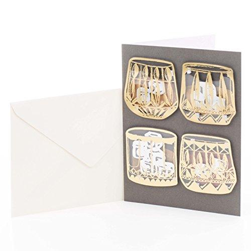 Hallmark Geburtstagskarte für Männer mit Unterschrift Whiskey-Gläser Whiskeygläser
