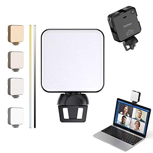 Luce per videoconferenze | Kit clip per illuminazione per videoconferenza con custodia | Cube Laptop Computer Webcam Light per auto-trasmissione | Zoom Meeting | Microsoft Teams | Diretta streaming