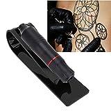 Transparent Tattoo Gun Holder, Plastic Tattoo Pen Holder Stand Machine Display Support Rack Organizer Tattoo Accessory Tool(Black)
