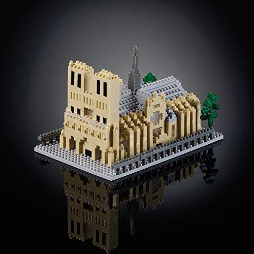 Catedral de Notre Dame, Rompecabezas 3D, Francia Edición, 928 Piezas, 5 dificultad para los Expertos, Multicolores - Brixies 410168