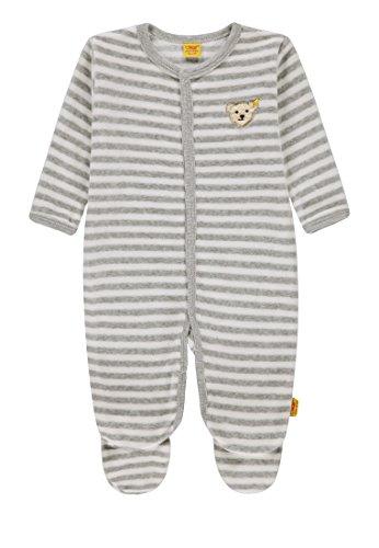 Steiff Baby Mädchen festlicher Nicky Strampler 6842861 , Weiß (y/d Stripe Multicolored 0001), 74