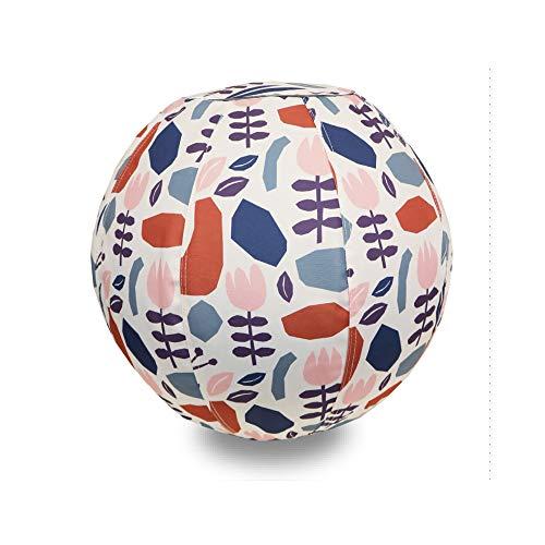グローバルアロー moiku モイク バランス ボール Flower CR 55cm 空気入れ付き 洗えるカバー付き ハンドル付き 北欧 オシャレ
