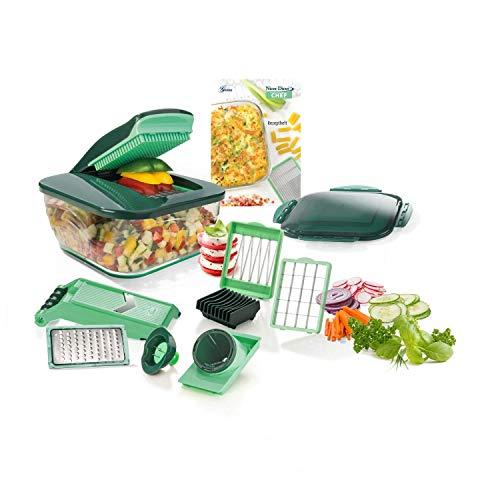 Genius Nicer Dicer Chef (15 piezas) | Cortador de frutas, verduras, cebolla, picadora, rallador de verduras, mandolina