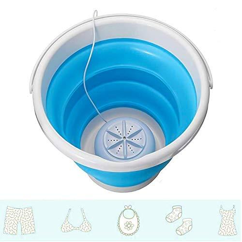 Kacsoo Mini Turbo lavadora con bañera plegable portátil, turbinas ultrasónicas giratorias personales, USB, conveniente para lavandería para viajes, hogar, viaje de negocios