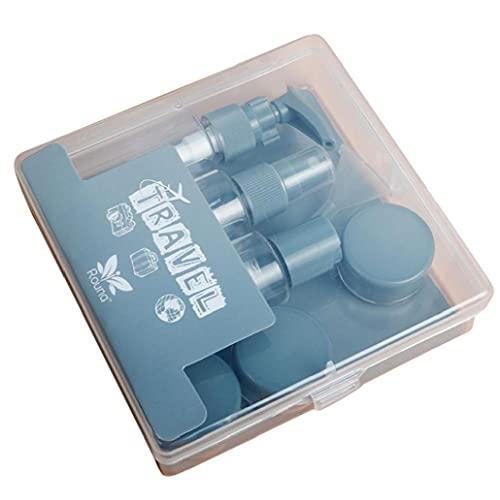 NIDONE Botellas Conjunto del Recorrido Pequeña Botella vacía de la Muestra del Aerosol Jar Claro Recipiente con Tapa para Cubiertas de Crema loción cosmética 8PCS Gris
