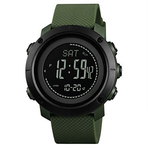 OUMOSI - Reloj Militar Multifuncional para Hombre con Correa de Reloj de Poliuretano