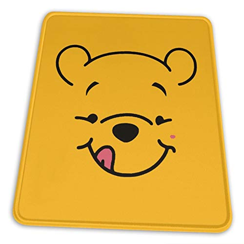 Nueey Winnie-The-Pooh - Alfombrilla de ratón vertical con soporte para muñeca, base de goma antideslizante para escritorio de alta DPI profesional, 10 x 12 pulgadas
