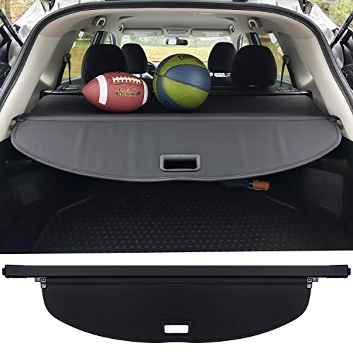 Trunk Cargo Cover For Nissan X-trail Rogue SV S SL 2014-2019 Retractable Rear Trunk Cargo Luggage Security Shade Cover Shield Waterproof Custom Fit All Weather (Black)