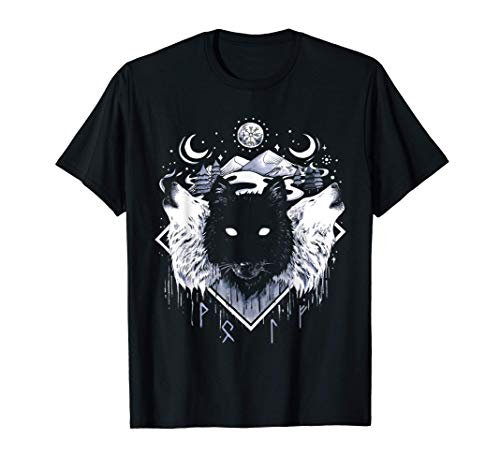 Wölfe Rudel Fenrir Wolf Wikinger Fenriswolf Valhalla Odin T-Shirt