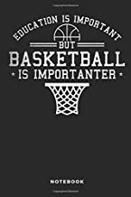 Education Is Important But Basketball Is Importanter Notebook: 6x9 Blank Lined Basketball Composition Notebook or Journal for Coaches and Players