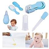 Hainice Suministros 10pcs Azules/Set Kit de Aseo del bebé recién Nacido Sala de Cuidados de la Salud Set Baby Care Baby Kit, Kit de Aseo para bebés y niños pequeños bebé