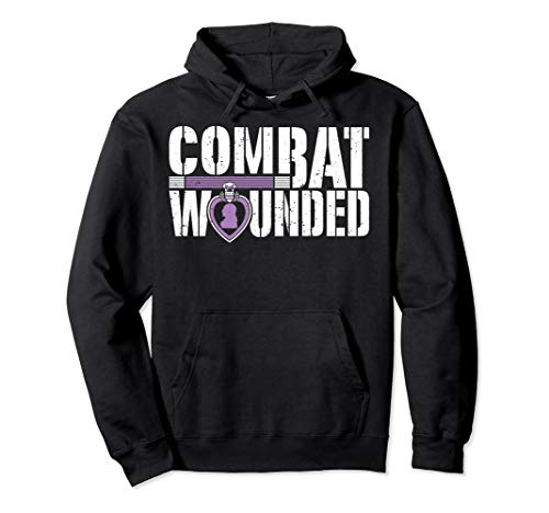 Purple Heart Military Veteran Shirt | Combat Wounded Soldier Pullover Hoodie