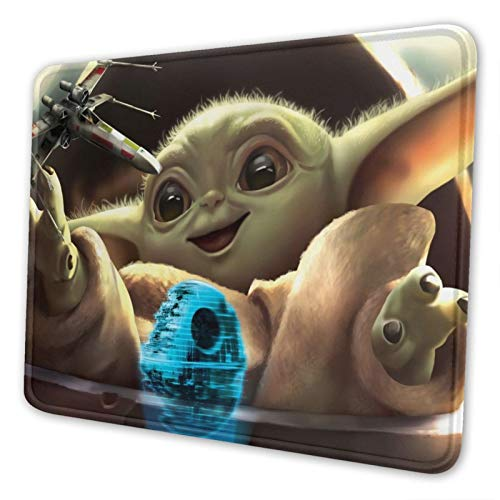 Yo-Da Baby Gaming Mouse Pad Rectangle Thick Non Slip Rubber Game Office Mouse Mat