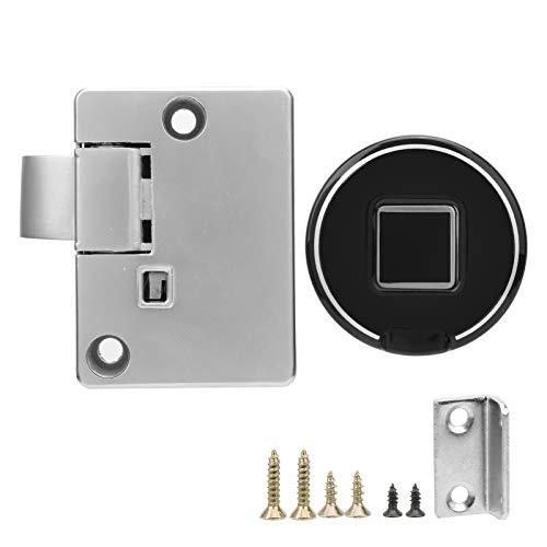 Antirrobo, cerradura de cajón de huellas dactilares, cerradura de armario de aleación de zinc + plástico ABS sin llave DC 2,3 – 3,3 V cajones para el hogar oficina para el armario
