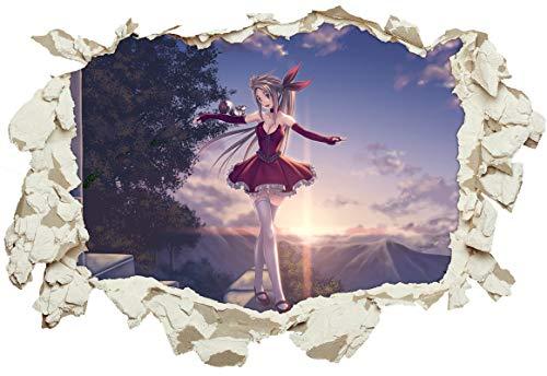 Unified Distribution Anime & Manga - Ballance Ballerina - Wandtattoo mit 3D Effekt, Aufkleber für Wände und Türen Größe: 92x61 cm, Stil: Durchbruch