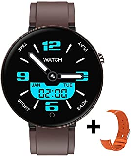$21 » MeterMall DT78 Men Women Smart Bracelet Fitness Watch Color Screen Heart Rate Sleep Monitor Step Count Health Exercise brown Electronic Accessories