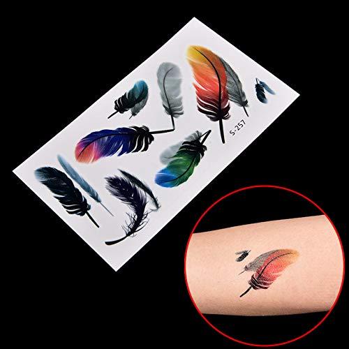 1 pc Étanche Autocollant De Tatouage Body Art Tatouage Transfert d'eau Plume Note de Musique Croix Code À Barres Autocollant De Tatouage Temporaire -, Croix