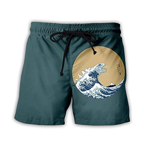 Pantalones cortos de playa para hombre con estampado 3D de ondas K5. 50