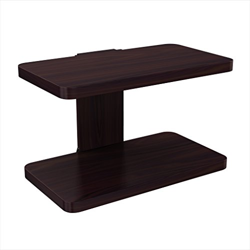 Stony-Edge Floating Wooden Wall Mount Shelf (Small, Espresso) - Mounted TV Shelving Tray for Video Game Consoles, Blu-Ray Players, Cable Boxes, Books - Easy to Assemble Furniture