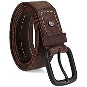 Timberland PRO Men's 40mm Workwear Leather Belt, Dark Brown/Double Stitch, 52