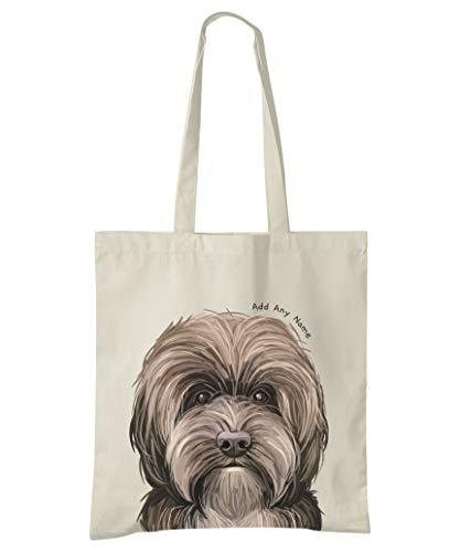 Tragetasche für Hunde, aus natürlicher Baumwolle, personalisierbar