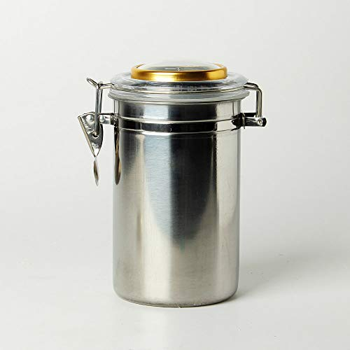 MUXIANG Tobacco Jar Cigar Humidor Tobacco Storage Jar Candy Butter Coffee Bean Container Stainless Steel Airtight CG0012